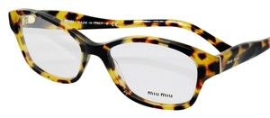Miu Miu Women's Optical Frame Spotted Tortoise New