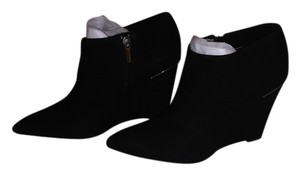 Coach Suede Wedge Black Boots