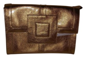 Jonathan Adler Leather Gold Clutch