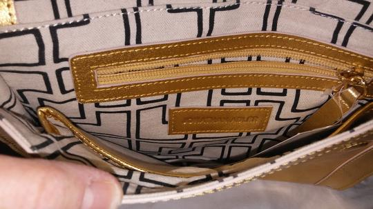 Jonathan Adler Leather Gold Clutch Image 1
