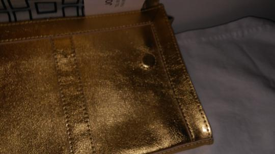 Jonathan Adler Leather Gold Clutch Image 2