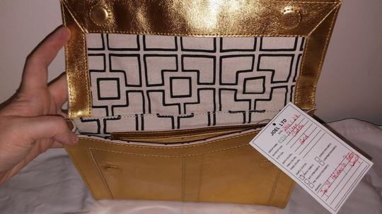 Jonathan Adler Leather Gold Clutch Image 3