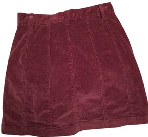 BDG Mini Skirt Burgundy