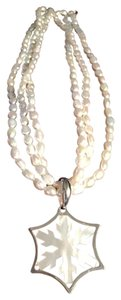 Honora Multi strand pearl necklace with snow flake