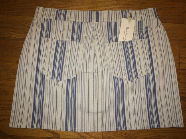 Vince Camuto Denim Jean Mini Skirt BLUE INDIGO STRIPE Image 1