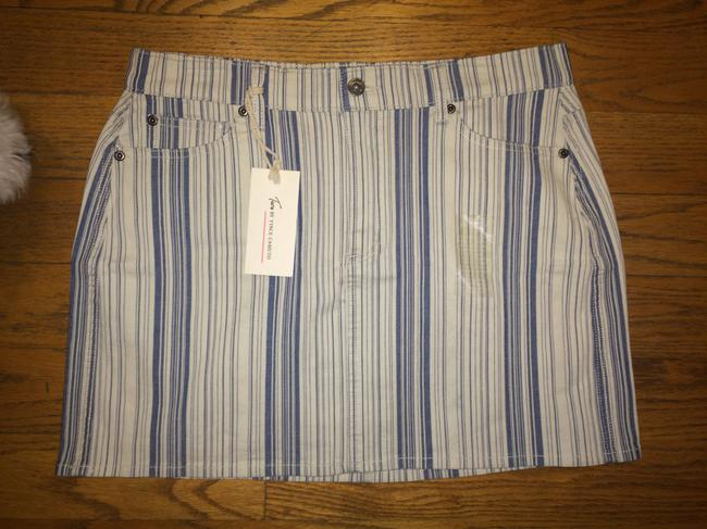 Vince Camuto Denim Jean Mini Skirt BLUE INDIGO STRIPE Image 4