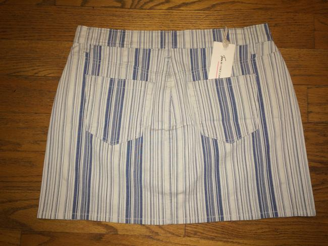 Vince Camuto Denim Jean Mini Skirt BLUE INDIGO STRIPE Image 5