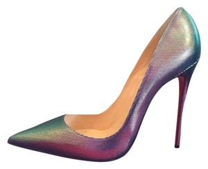 Christian Louboutin So Kate Scarabe So Kate Louboutin Size 36 Silver Pumps