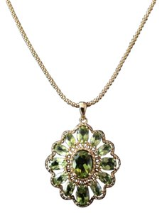Technibond Vintage Technibond Necklace - Pale Green Stones