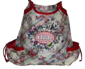 Oilily Red & White Diaper Bag
