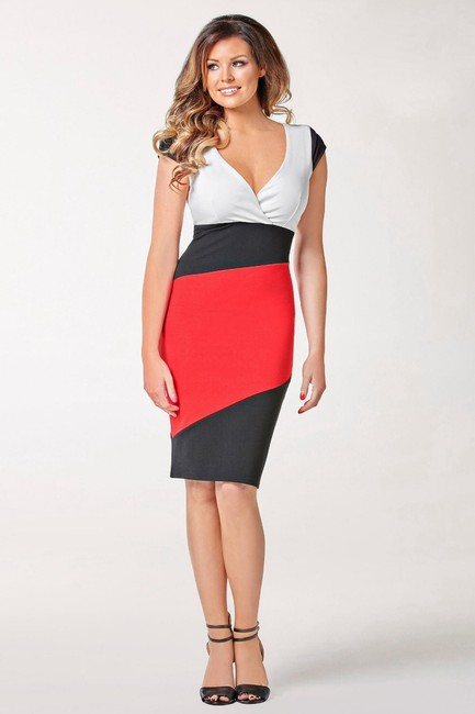 Other New Sexy Colorblock Bodycon Cute Summer Dress Image 2
