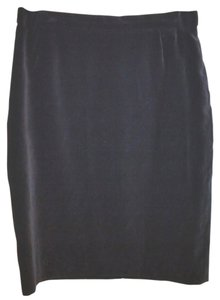Escada Velvet Pencil Skirt BLACK