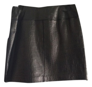 Context Leather Skirt Black Leather