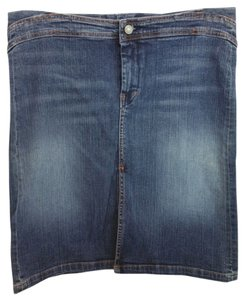 7 For All Mankind Stretchy Denim Jeans Skirt BLUE