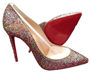 f4df203223c Christian Louboutin Pink Gold Glitter Rosette Pigalle Follies Heel 100mm  Pumps Size US 8 Regular (M, B) 12% off retail