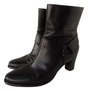 Cole Haan Nike Leather Ankle Black Boots