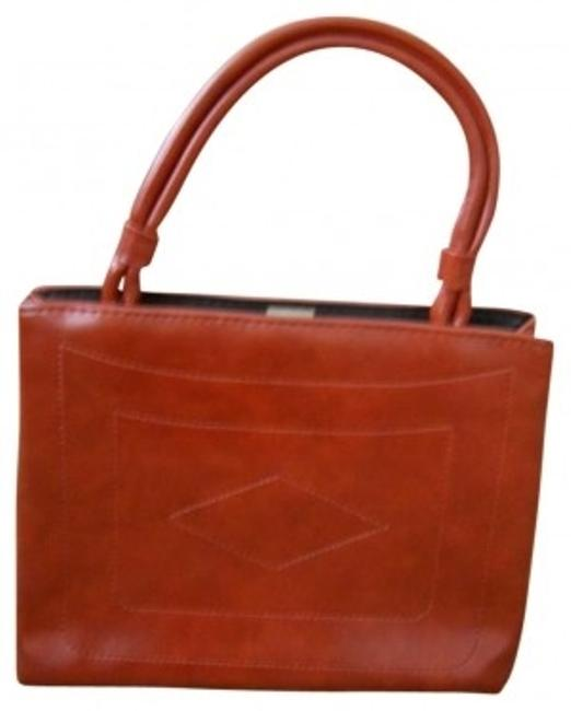 Item - Purse Orange Leather Satchel