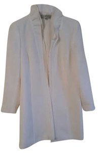 Tahari Face Trench White Jacket