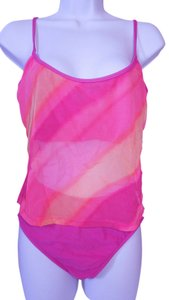 Slim-A-Size Fully Lined SLIM-A-SIZE 2 Pc Tie Dye Sheer Pink Rose