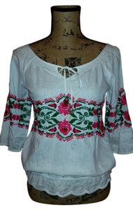 Juicy Couture Embroidered Top White with embroidery