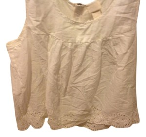 H&M With Tags H& M Organic Collections.. Eyelet Trim Top White