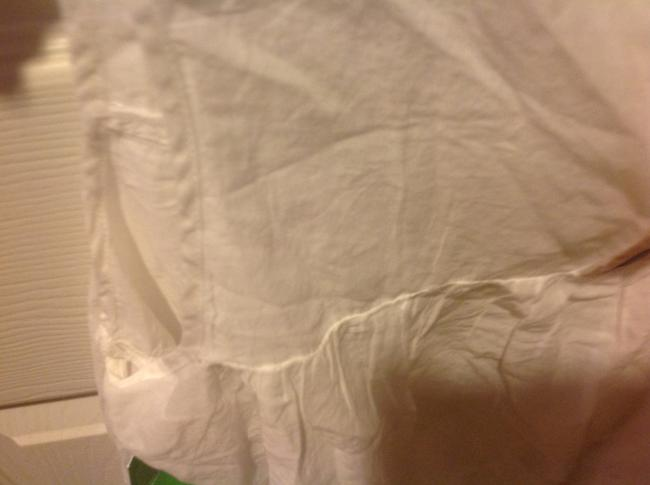 H&M With Tags H& M Organic Collections.. Eyelet Trim Top White Image 1