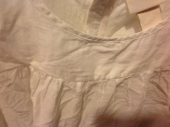 H&M With Tags H& M Organic Collections.. Eyelet Trim Top White Image 2