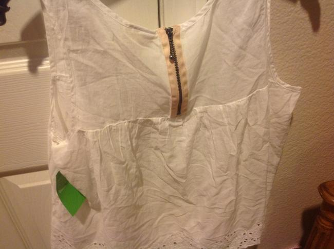 H&M With Tags H& M Organic Collections.. Eyelet Trim Top White Image 3