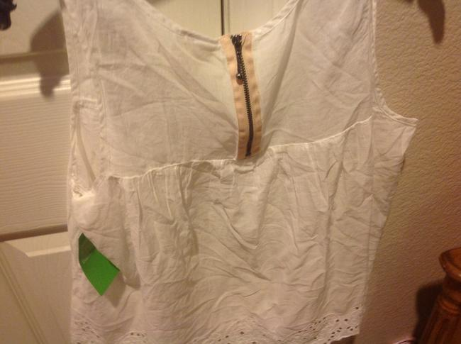 H&M With Tags H& M Organic Collections.. Eyelet Trim Top White Image 4