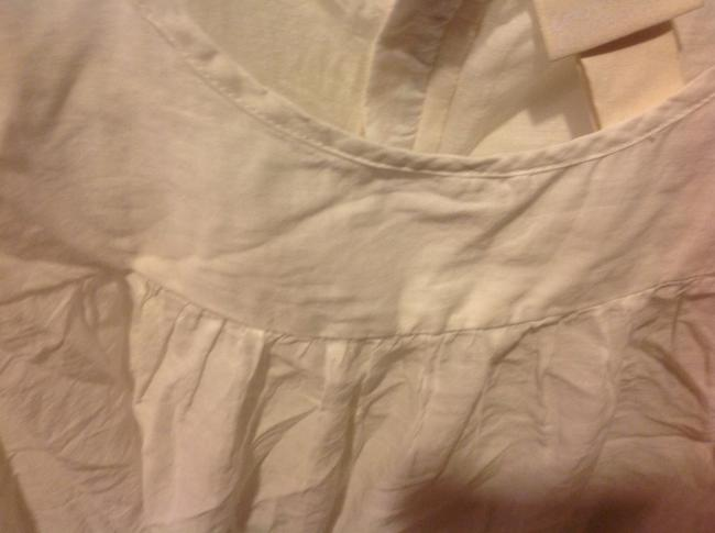 H&M With Tags H& M Organic Collections.. Eyelet Trim Top White Image 5