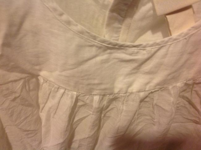H&M With Tags H& M Organic Collections.. Eyelet Trim Top White Image 7
