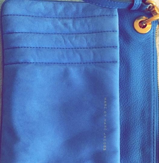 Marc Jacobs Suede Leather Cobalt Cross Body Bag Image 1