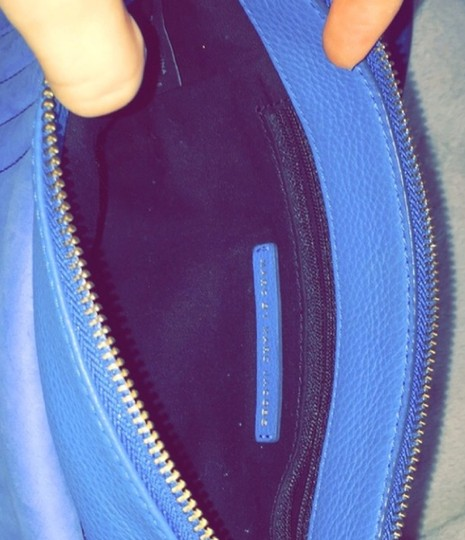 Marc Jacobs Suede Leather Cobalt Cross Body Bag Image 3
