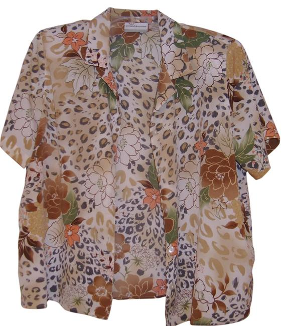Alfred Dunner Button Down Shirt Mulit colors