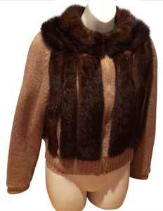 Mink Sweater Wool Vtg Fur Coat
