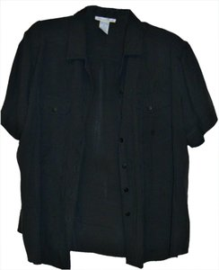 Anna And Frank Button Down Shirt Black