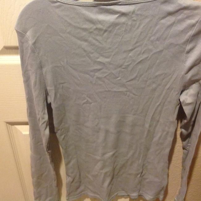 The Limited With Tag Ribbed V Neck With Sequins T Shirt Baby blue Image 2