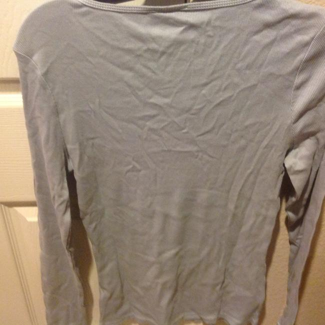 The Limited With Tag Ribbed V Neck With Sequins T Shirt Baby blue Image 3