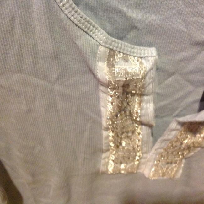 The Limited With Tag Ribbed V Neck With Sequins T Shirt Baby blue Image 5