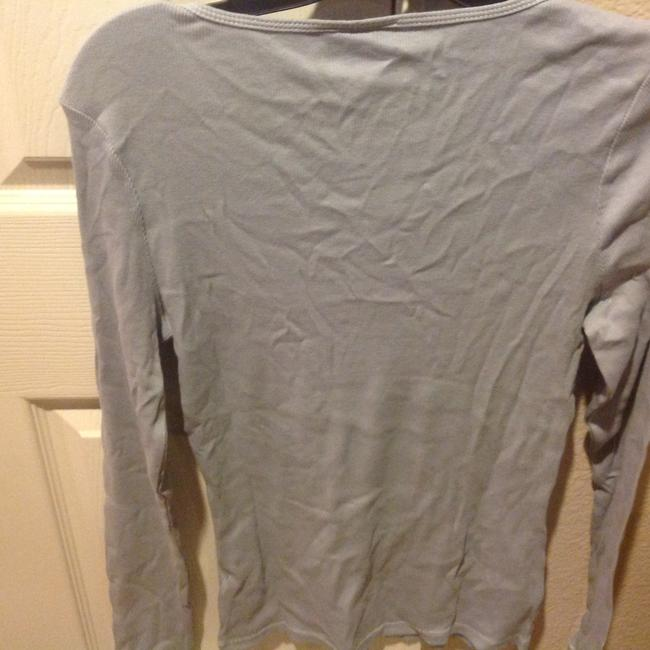 The Limited With Tag Ribbed V Neck With Sequins T Shirt Baby blue Image 6