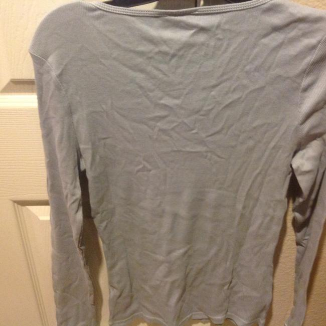 The Limited With Tag Ribbed V Neck With Sequins T Shirt Baby blue Image 7