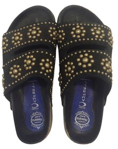 Jeffrey Campbell Beaded Suede Black Sandals