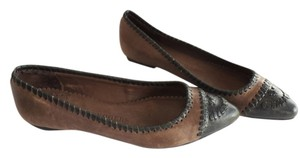 Jack Rogers Moccasin Ballet BROWN BLACK Flats