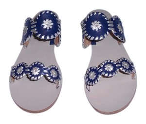 Jack Rogers Lauren Midnight Blue/Platinum Sandals