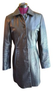 Kenneth Cole Reaction Cool Urbane Edgy Leather Leather Jacket