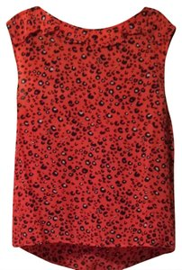 French Connection Bright Cap Sleeve Top Leopard