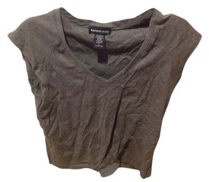 Express Midriff T Shirt Gray