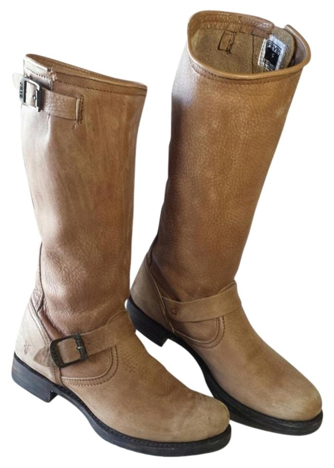 Frye Veronica Reduced Soft Vintage Beige Veronica Frye Slouch Boots/Booties ded064