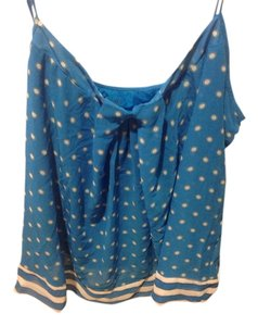 New York & Company Co Brand Adjustable Straps Top Bright blue with white.