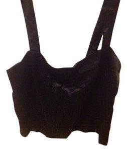 The Limited With Zipper Corset Blouse Top Black